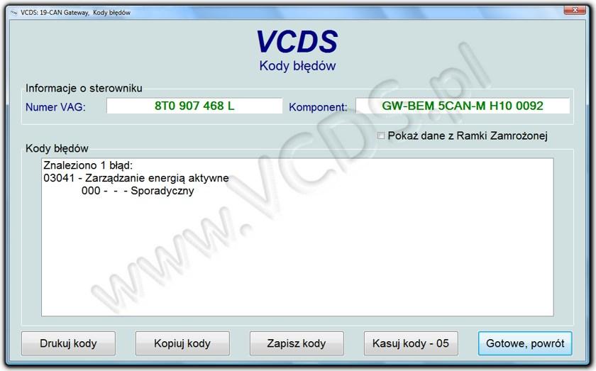 Aktualne Strona firmy ADAKO - oprogramowanie diagnostyczne VCDS® KY06